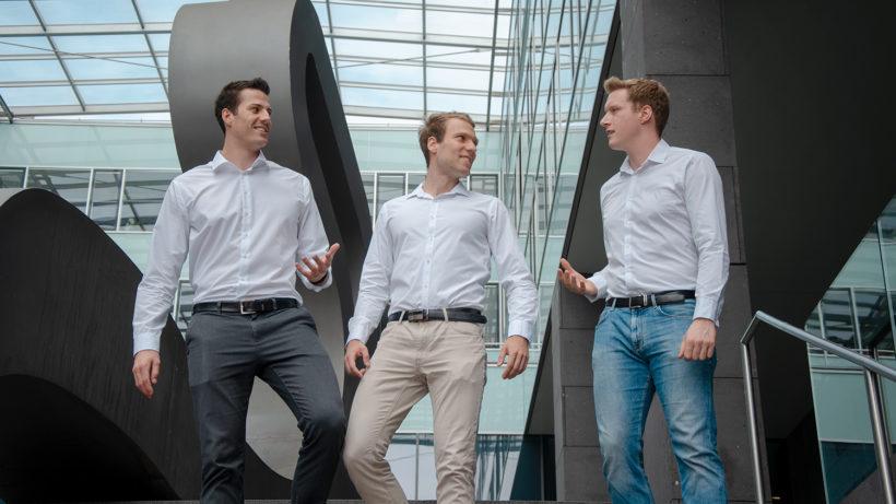 Die Xaleon-Gründer Horst-Georg Fuchs, Markus Wagner und Mathias Holzinger. © Xaleon