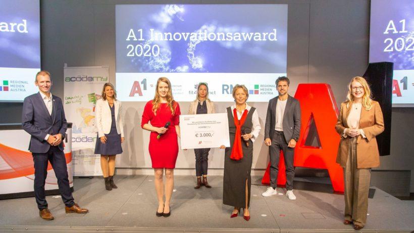 acodemy ist Sieger des A1 Innovationsawards 2020. © A1/APA/Juhasz