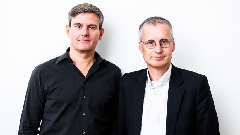 """Thomas Ramge und Viktor Mayer-Schönberger, Autoren des Buchs """"Machtmaschinen"""". © Murmann Verlag"""