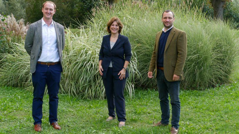 Stefan Köppl (Investment Manager, tecnet equity), Doris Agneter (Geschäftsführerin, tecnet equity) und Camillo Pachmann (MLReef). © tecnet equity