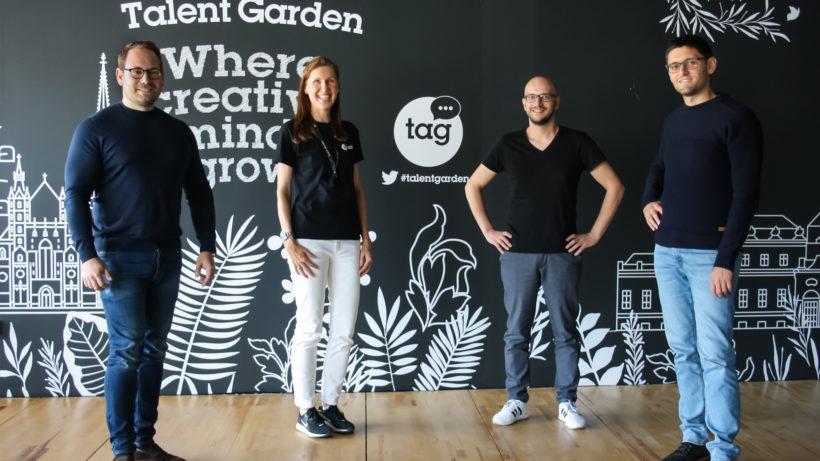Benjamin Ruschin (WAD), Petra Hauser (TAG), Sead Ahmetovic (WAD) und Davide Datolli (TAG). © WeAreDevelopers