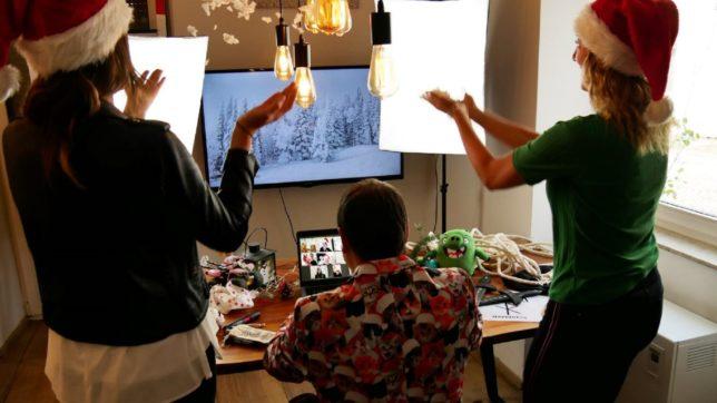 Eine virtuelle Weihnachtsfeier von Teamazing. © Teamazing