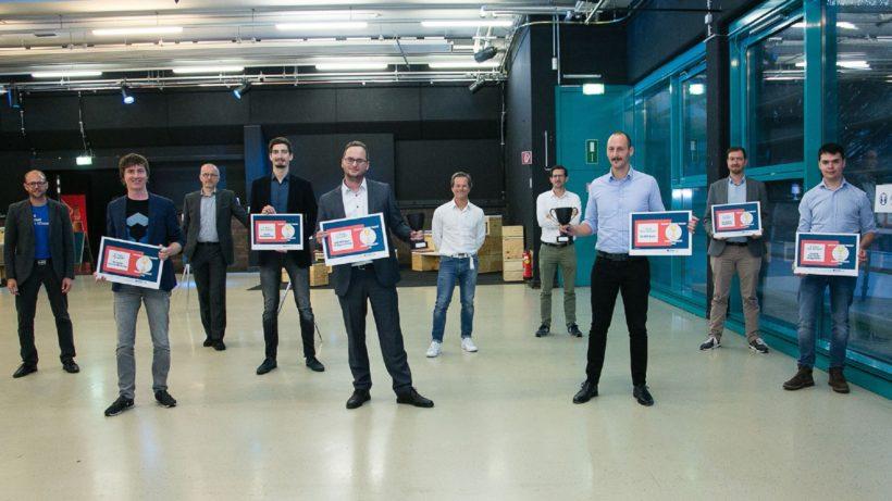 Die Sieger-Startups der Digital Venture Trophy. © tech2b
