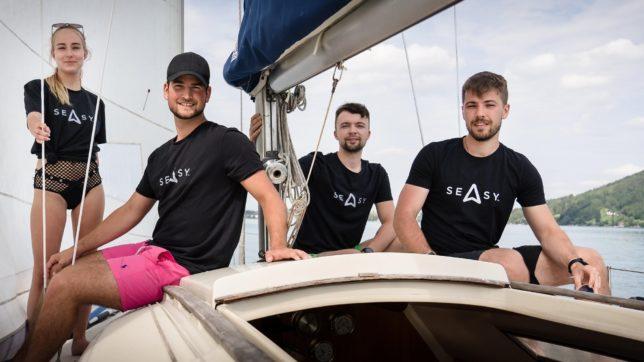 Das Team von Seasy: Ivana Zemanovicova, Geschäftsführer Niklas Baumgartner, Daniel Machacek und Martin Olsansky. © Seasy