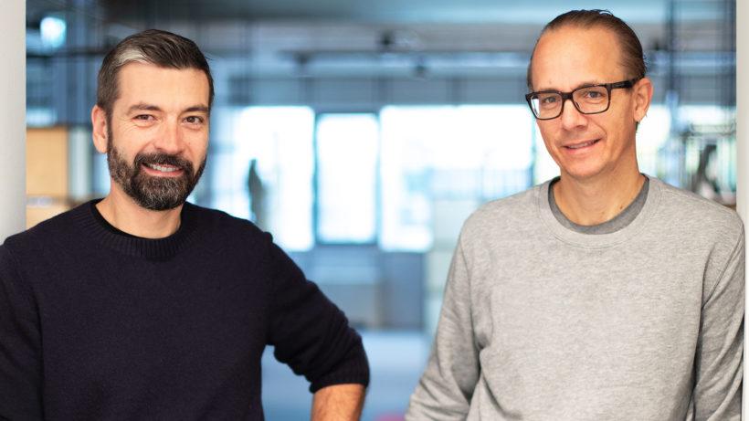 Die woombikes-Gründer Christian Bezdeka und Marcus Ihlenfeld. © Andreas Rhomberg/woom