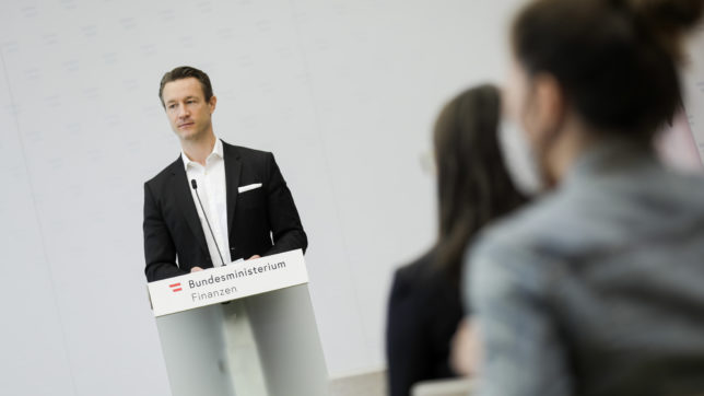 © Finanzminister Gernot Blümel. © BMF/Wenzel