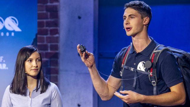 Julia Schadinger und Lukas Watzinger bei der Vorstellung von Reeloq. © Puls4 / Gerry Frank