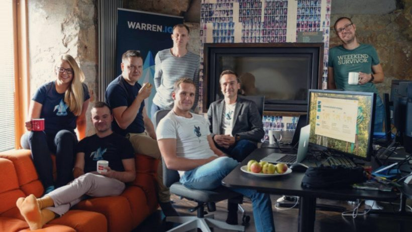 The Warren team. Company co-founder and CEO Tarmo Tael second from the right. © Warren