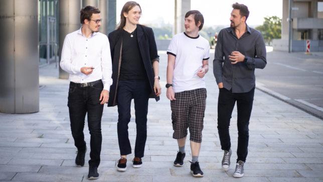 Lukas Stranger, Alexis Kopciak, Martin Wagner, und Patrick Kolar von NXRT. © NXRT