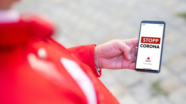 Die Stopp-Corona-App. © Österreichisches Rotes Kreuz (ÖRK) / Thomas Holly Kellner