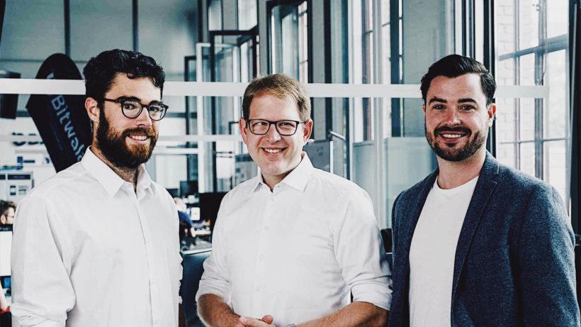 Jan Goslicki, Benjamin Jones und Jörg von Minckwitz von Bitwala. © Bitwala