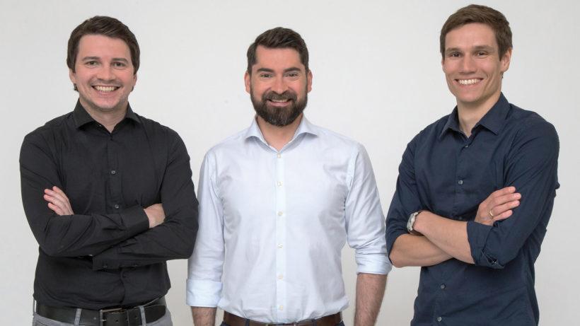 Daniel Strieder, Michael Handler und Jörg Skornschek, die Gründer von Credi2. © Credi2 GmbH