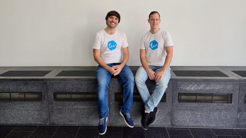 David Eberle und Janis Berneker haben Typewise gegründet. © Typewise