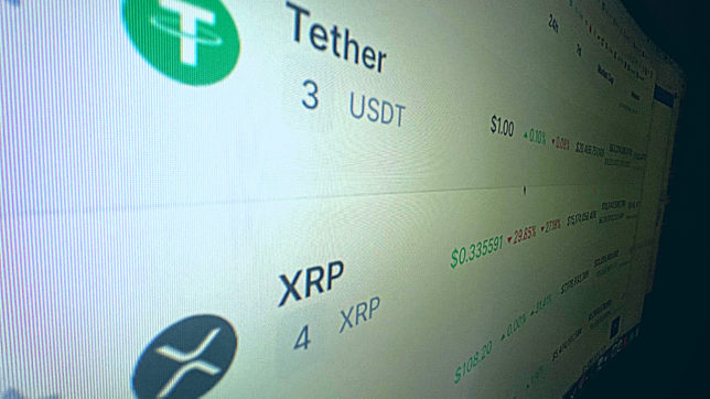 Tether vor XRP. © Trending Topics