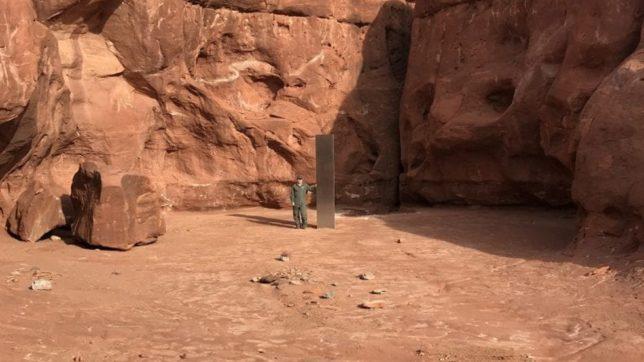 Der rätselhafte Monolith aus Utah. © Utah Department of Public Safety