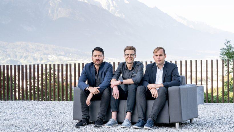 Die Gründer von Miviso: Philip Willner, Michael Danklmaier und Hanspeter Prieth. © Miviso