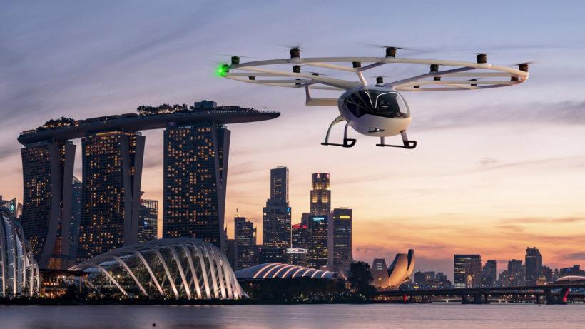 Volocopter über Singapur. © Volocopter
