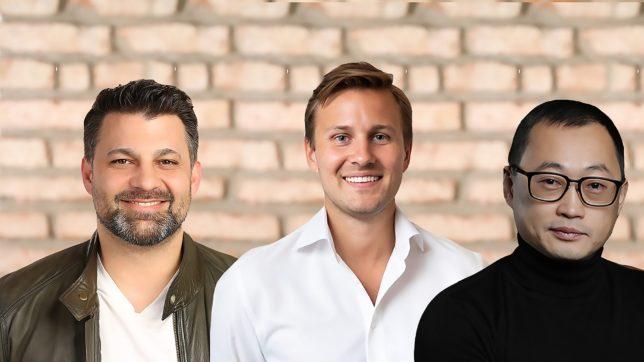 Die Co-Founder von Bonrepublic: Rico Fernando und Jakob Feigl, ganz rechts Vladimir Kim. © Bonrepublic