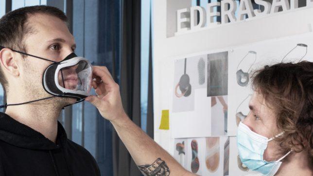 Individuell auf die Gesichtszüge zugeschnitten: So sieht die Hightech-Maske von Edera Safety aus. © Edera Safety