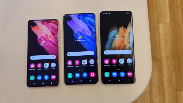 Samsung Galaxy S21, S21+ und S21 Ultra. © Trending Topics / Oliver Janko