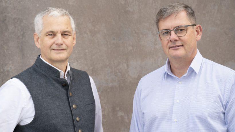 Die Telbiomed-Gründer Peter Kastner und Robert Modre-Osprian. © Lorenz Kastner