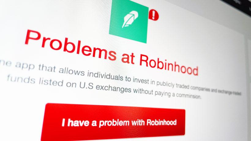 Robinhood kämpft mit Schwierigkeiten. © Trending Topics