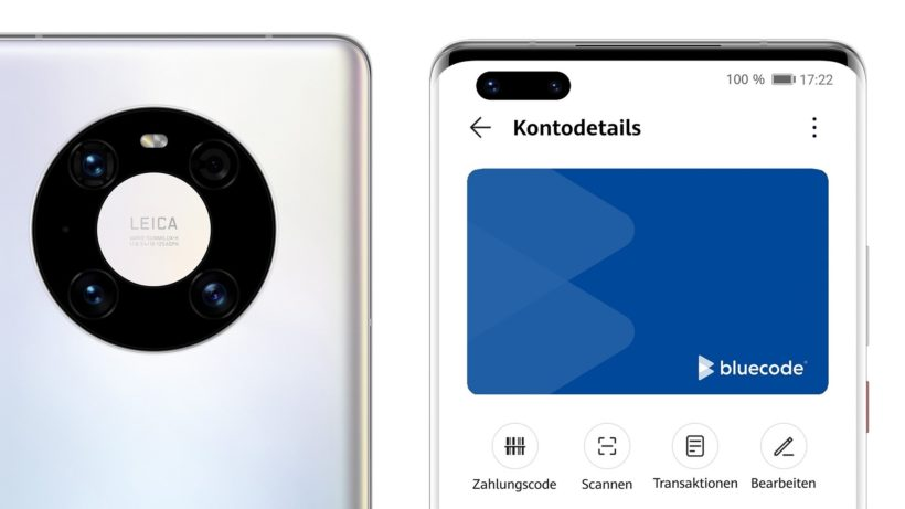 Bluecode auf Huawei. © Huawei Consumer Business Group Austria
