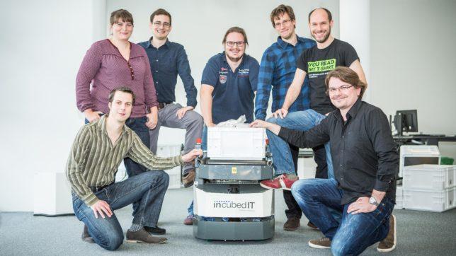 Das siebenköpfige incubed IT Gründer Team - alle Absolventen der TU Graz. © Atelier Jungwirth