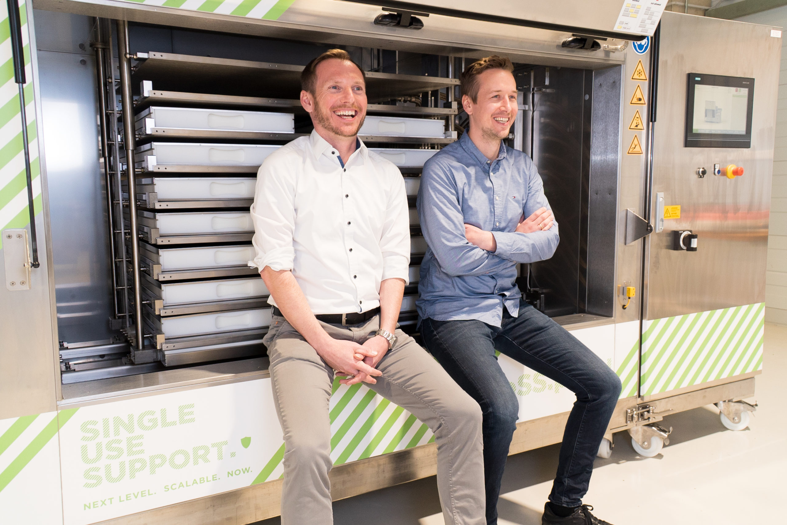 Johannes Kirchmair and Thomas Wurm, die Gründer von Single Use Support. © Single Use Support GmbH