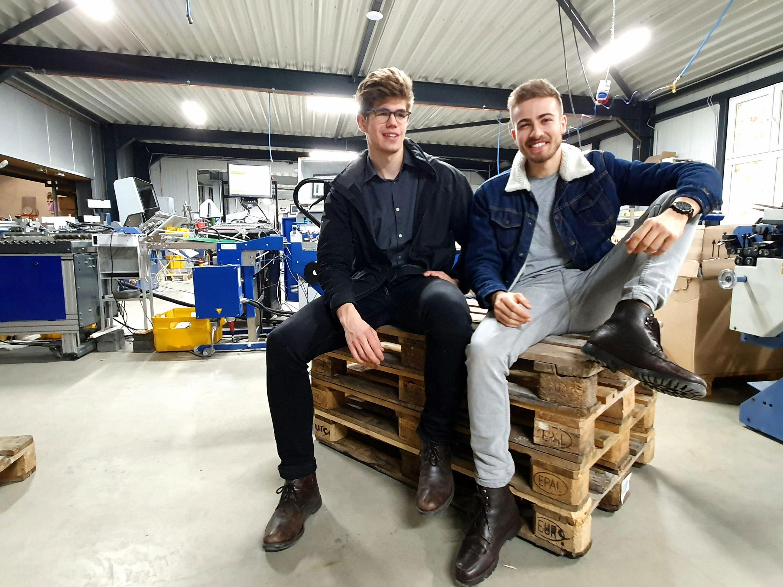 Raphael Besnier and Tobias Macke von Interactive Paper. © Interactive Paper