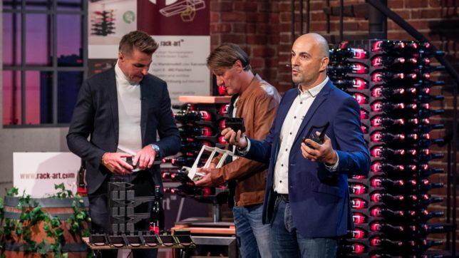 Klaus Weinzierl und Thomas Enne bei der Präsentation von rack-art. © PULS 4 / Gerry Frank