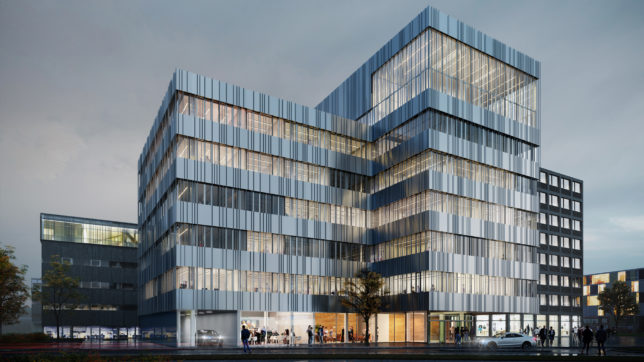 "Der ""Techno Head"" wird neue Landmark der Science City Itzling. © Riegler Riewe Architekten"