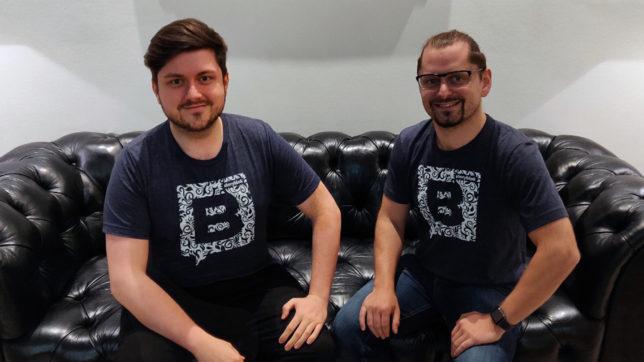 Dominik Angerer und Alexander Feiglstorfer von Storyblok. © StoryBlok