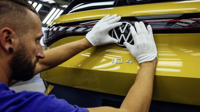 Produktion des VW ID4 bei Volkswagen Sachsen in Zwickau. © Oliver Killig/Volkswagen AG