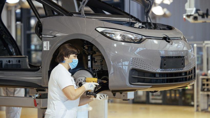 ID.3 Serienproduktion von VW in Dresden. © Volkswagen AG