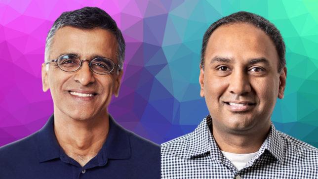 Sridhar Ramaswamy und Vivek Raghunathan, die Gründer von Neeva. © Neeva/Canva