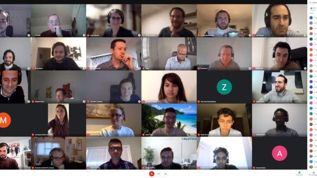 Das Team von Valutico im Team-Call. © Valutico