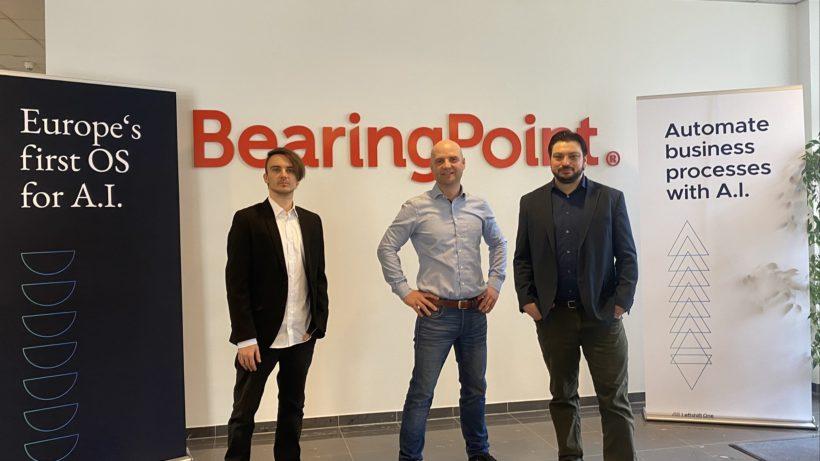 Leftshift One-CTO Christian Weber, BearingPoint Austria-Geschäftsführer Markus Seme und Leftshift One-CEO Patrick Ratheiser. © LSO/CS
