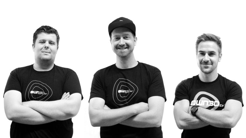 Das OWN3D-Gründerteam Lukas Hoffmann, Thomas Rafelsberger und Andreas Hanne. © OWN3D