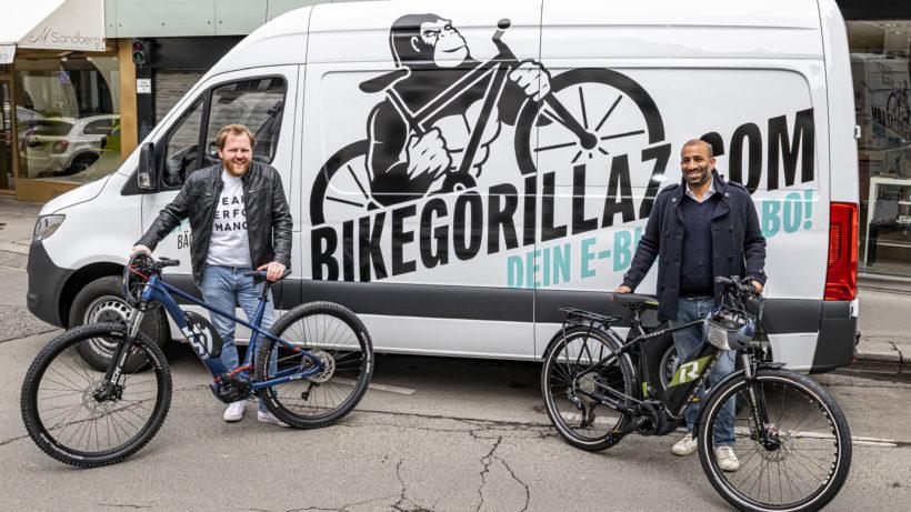 Nikolaus Mautner Markof und Arjun Ahluwalia von Bike Gorillaz. © Bike Gorillaz
