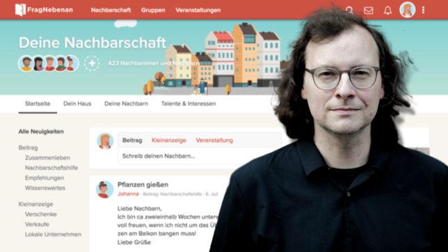 Thomas Heher, der neue Eigentümer von FragNebenan. © FragNebenan.com, T. Heher / Montage Trending Topics