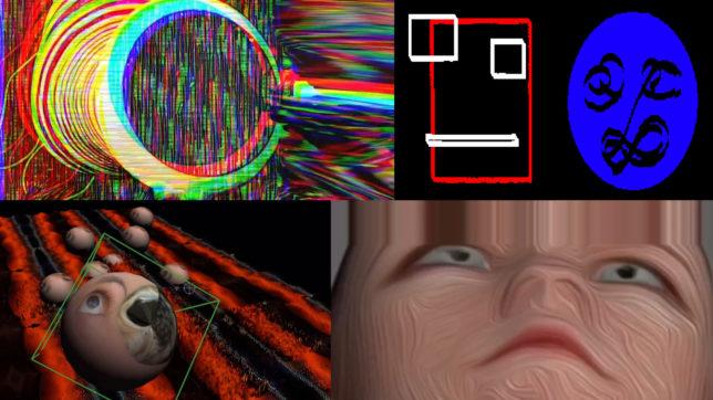 Digitale Kunstwerke bei Portal. © Peter Kogler / Linn Phyllis-Seeger / Markus Oehlen, Montage Trending Topics