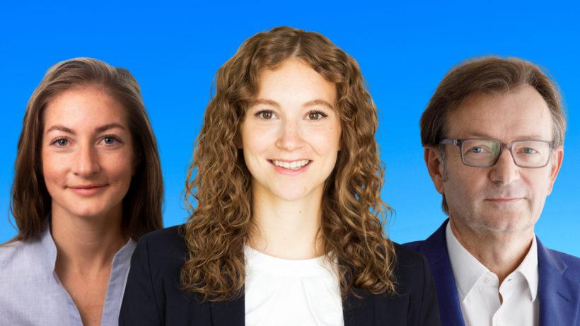 Valerie Herzog und Pia Seeberger von InnovATE und Gerhard Hirczi von der Wirtschaftsagentur Wien. © InnovATE, Wirtschaftsagentur Wien, Montage Trending Topics
