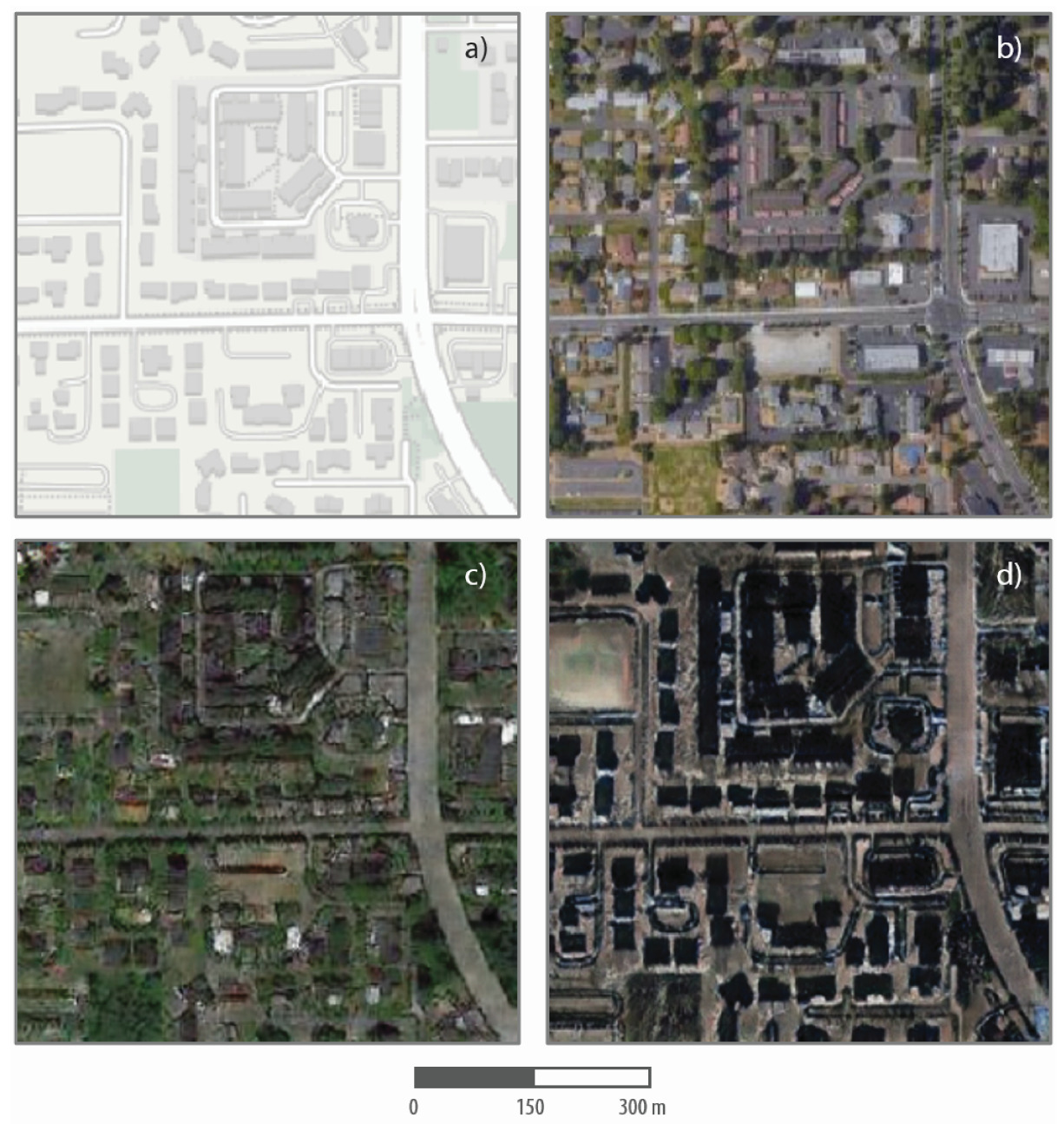 Satelliten-Deepfake © Zhao et al / Cartography and Geographic Information Science