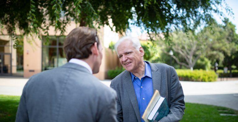 Sebastian Kurz bei Professor Fritz Prinz. © Volkspartei