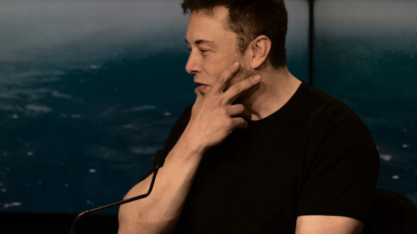 Elon musk, Chef von SpaceX und Tesla. © Daniel Oberhaus (2018)