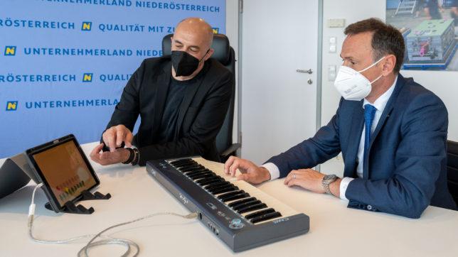 Wunderkind-Gründer Mario Aiwasian und NÖ-Landesrat Jochen Danninger © Wunderkind