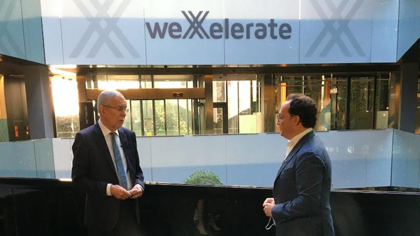 Bundespräsident Alexander Van der Bellen und weXelerate-Geschäftsführer Awi Lifshitz © Trending Topics