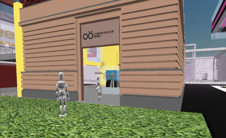 Das virtuelle Museum mit dem NFT. © virtuelles Museum: OÖLKG, Kunstwerk: Kucsko 2021