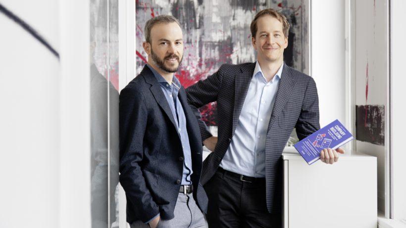 Die V_labs-Gründer Lukas Meusburger & Georg Frick. © V_labs